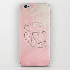 One line Iron Man iPhone & iPod Skin