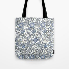 William Morris Navy Blue Botanical Pattern 6 Tote Bag