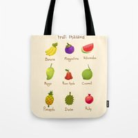 thailand Tote Bags featuring Fruit Thailand by paradon samapetch