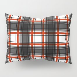 Black and Red Plaid Pattern Pillow Sham