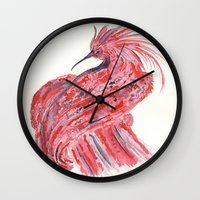 phoenix Wall Clocks featuring phoenix by echoes