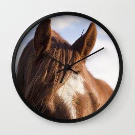 Modern Horse Print Wall Clock