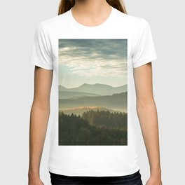 Endless Trees and Mountains Panorama T-shirt