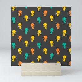 Halloween Seamless Skull Pattern Mini Art Print