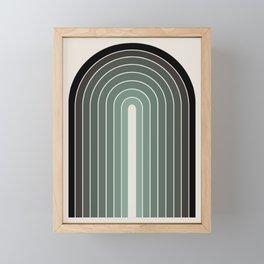 Gradient Arch - Green Tones Framed Mini Art Print