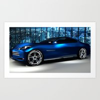 Electric Car Concept Art Print