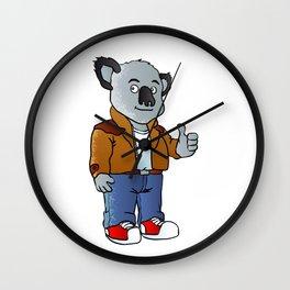 funny koala cartoon Wall Clock