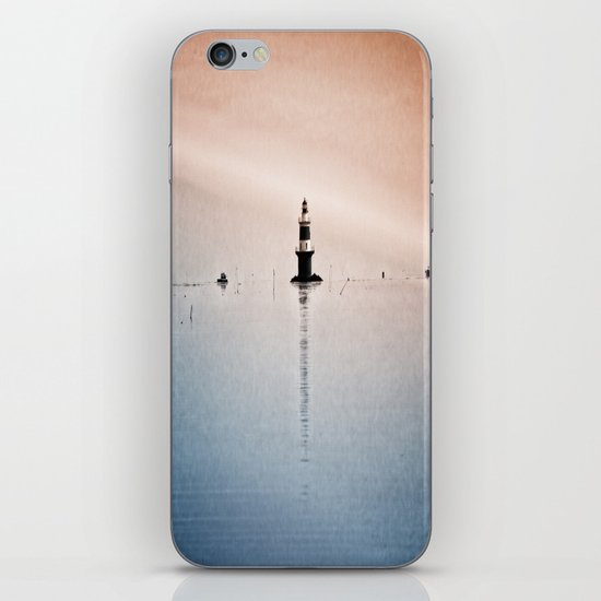 Fishing Near The Lighthouse iPhone & iPod Skin