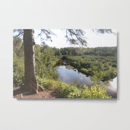 Hiking to Superior Metal Print