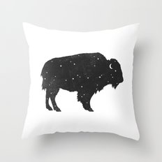 Mystic Buffalo  Throw Pillow