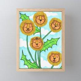 Dandy Lions Framed Mini Art Print