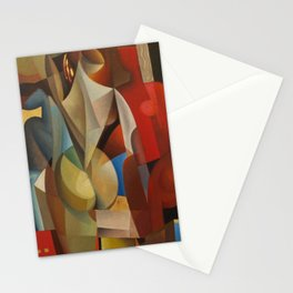 Composizone di Nudo female form in Red by Antonio Diego Voci Stationery Cards