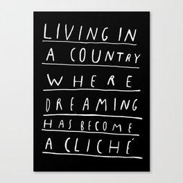 CLICHE Canvas Print
