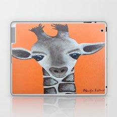 Baby Giraffe Orange Print. Animal Art animal print giraffe print kids room nursery art Laptop & iPad Skin