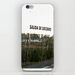 Salida de Socorro iPhone Skin