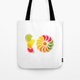 Plenty multicolored chewy gumdrops Tote Bag
