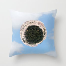 """Worlds in Jerusalem"" - City Neighborhood Throw Pillow"