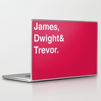 dwight Laptop & iPad Skins featuring Houston Rockets by Will Wild