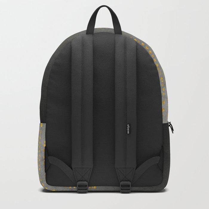 Dark Glamour golden faux glitter Backpack