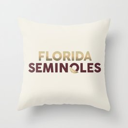 Florida Seminoles Throw Pillow