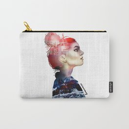 Double Exposure Girl Drawing (PART I) Carry-All Pouch