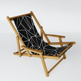 Abstraction Outline Black and White Sling Chair