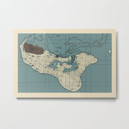 Map Of Tonga 1943 Metal Print
