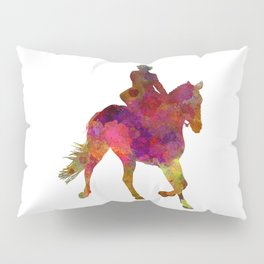 Horse show 03 in watercolor Pillow Sham