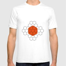 HEXAGON Mens Fitted Tee SMALL White