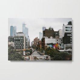 Street travel photography Newyork city, USA Metal Print