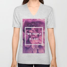Two People In Love Unisex V-Neck