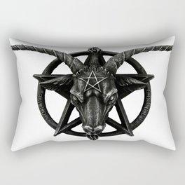 Baphomet Satanic Church Goat Head Rectangular Pillow
