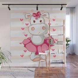happy hippo Wall Mural
