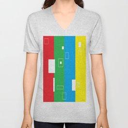 Simple Color Unisex V-Neck