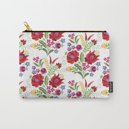Hungarian Folk Design Red Peppers Carry-All Pouch