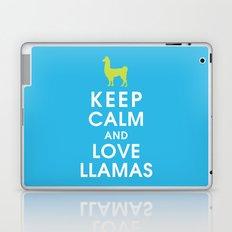 Keep Calm and Love Llamas Laptop & iPad Skin