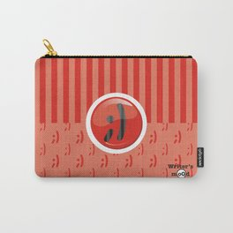 Red Writer's Mood Carry-All Pouch