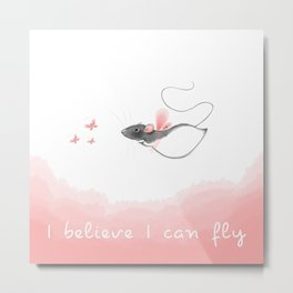 I believe I can fly Metal Print