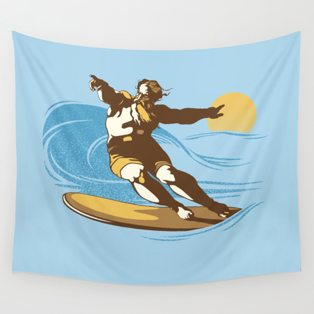 God Surfed Wall Tapestry by Tomburns TPS2072725
