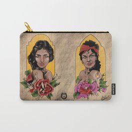 Lady Print Carry-All Pouch