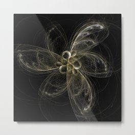 fractal world 6 flower Metal Print