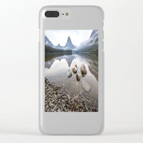 Rocky Lake Mountains Clear iPhone Case