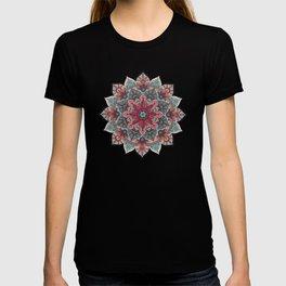 Winter holidays doodles mandala design T-shirt