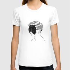 It's Raining Inside LARGE Womens Fitted Tee White