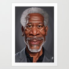 Celebrity Sunday ~ Morgan Freeman Art Print