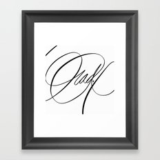 Rad. Black and White Framed Art Print