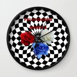 ESFERA CON FLORES Wall Clock