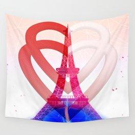 PARIS LOVE Wall Tapestry