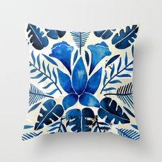 Tropical Symmetry – Navy Throw Pillow
