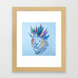 Indian Lion Framed Art Print